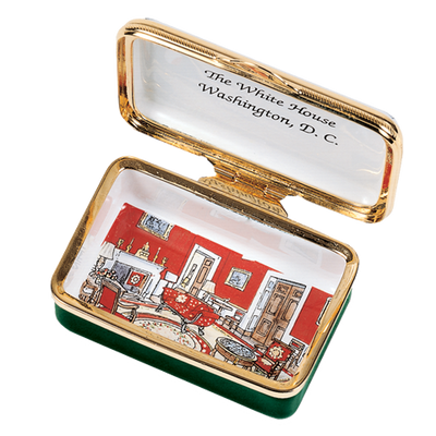 White House 1914 Enamel Box-Open