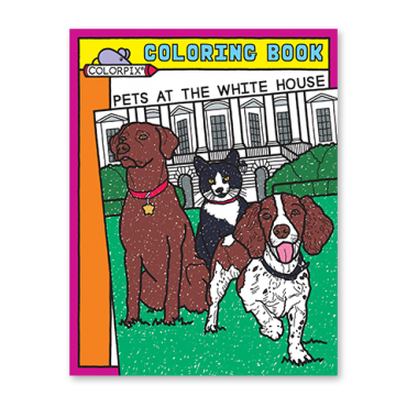 Pets at the White House Coloring Book