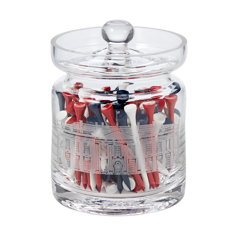 White House Biscuit Barrel with Golf Tees