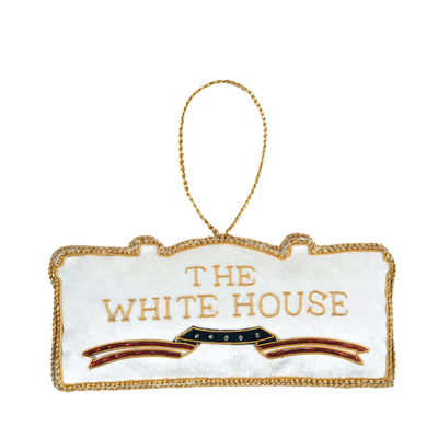 White House Ornament-Back