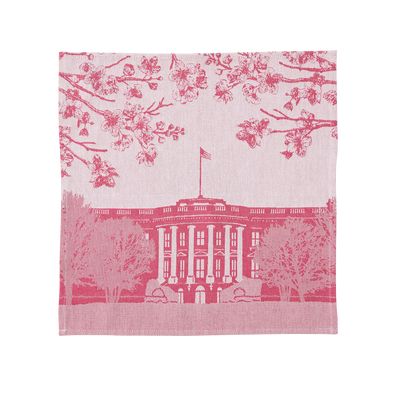 Pink White House Napkin Set
