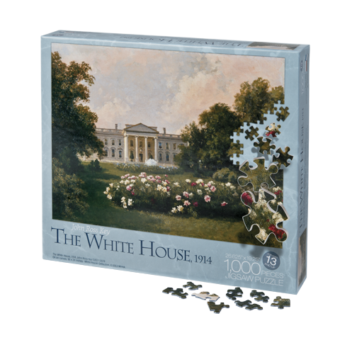 jigsaw puzzle reproduction of The White House in 1914