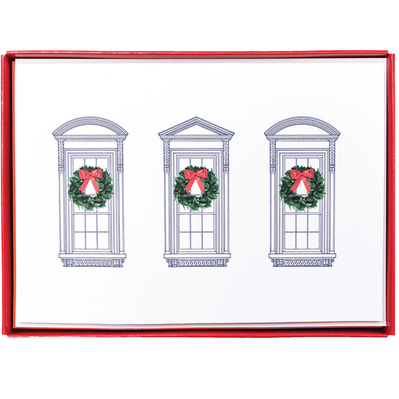 White House Windows Christmas Cards