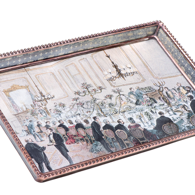 State Dining Room Decoupage Tray