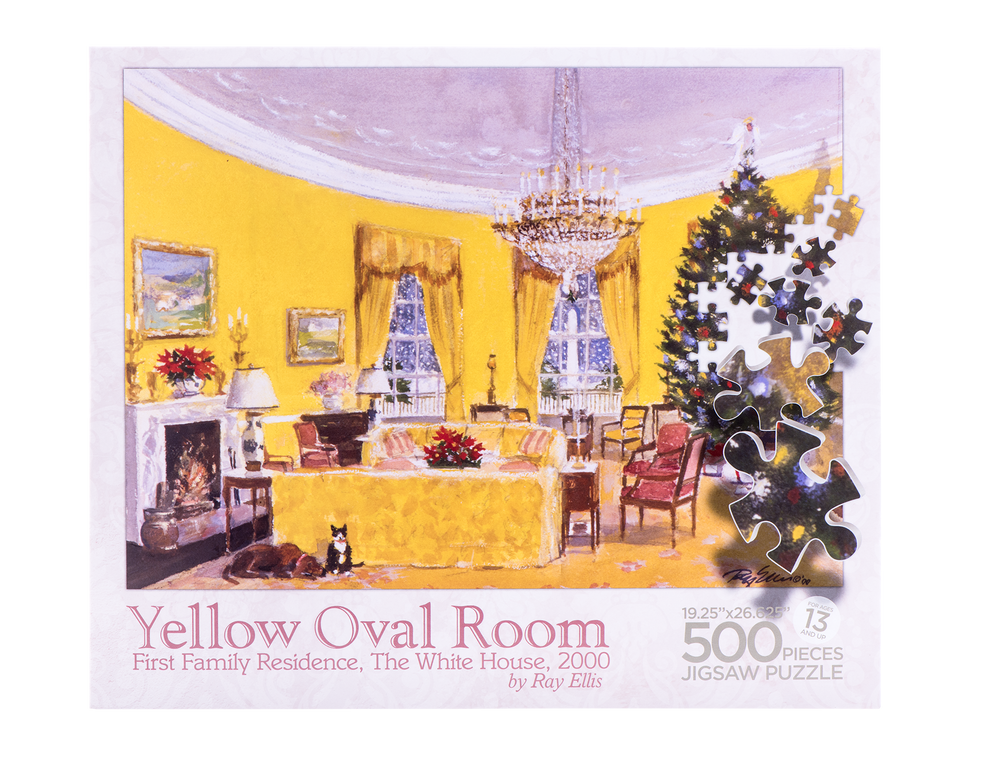 Yellow Oval Room Puzzle-Front of Box