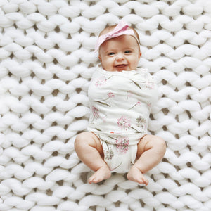 Classic 2-Way Swaddle | Pink Clustered Flowers