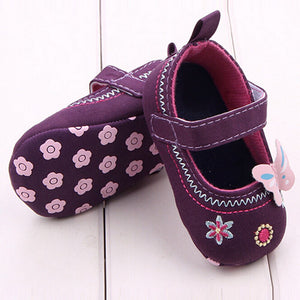 Butterfly & Floral Pattern Embroidered Shoe