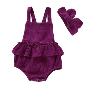 Baby Girl Strap Ruffled Summer Dress