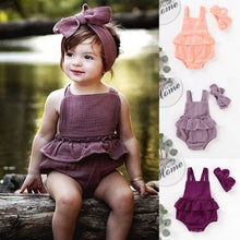 Load image into Gallery viewer, Baby Girl Strap Ruffled Summer Dress