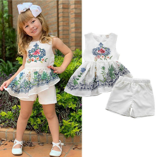 Baby Girl Fashion Sleeveless Ethnic Style