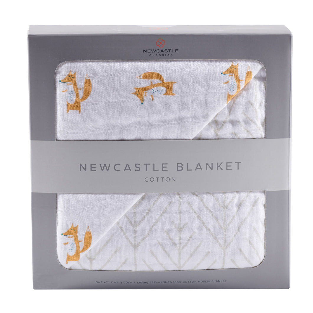 Fancy Fox and Forrest Arrow Newcastle Blanket