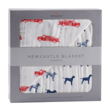 Load image into Gallery viewer, Fire Truck and Dalmatian Newcastle Blanket