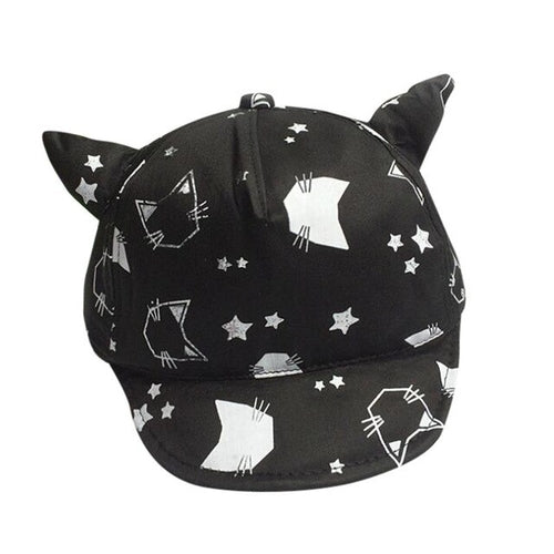 Children Kids Baby Hat Cartoon Print Spring Summer