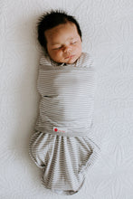 Load image into Gallery viewer, Classic 2-Way Swaddle | Gray Stripe