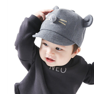 Kids Baby Hat Cute Bunny Rabbit Visor Baseball Cap