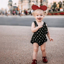 Load image into Gallery viewer, Baby Girl Sleeveless Dot Print Romper Dress