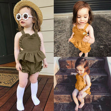 Load image into Gallery viewer, Baby Girl Sleeveless Ruffles Dress