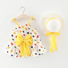 Load image into Gallery viewer, Baby Girl Floral Ruched Bow Dress