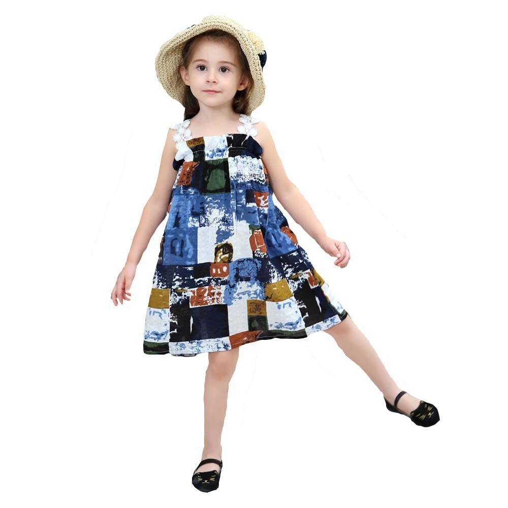Girl Knee Length Summer Dress