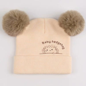 Cute Furry Balls Winter Beanie
