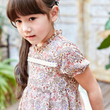 Load image into Gallery viewer, Girl Dress -Floral Embroidered A line dress