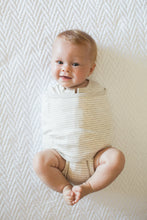 Load image into Gallery viewer, Organic 2-Way Swaddle | Heathered Oatmeal Stripe
