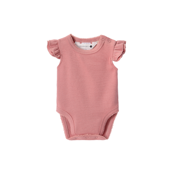 Susukoshi Organic Flutter Suit | Pink Clay