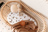 Snuggle Hunny Kids Fox Fitted Bassinet Sheet/Change Pad Cover