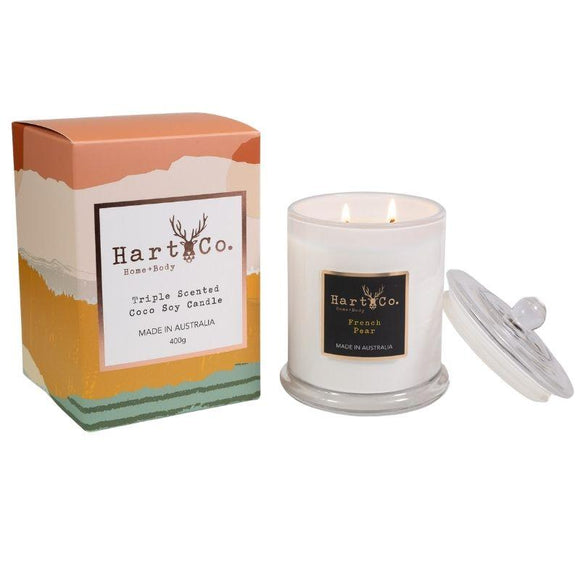Hart Co Double Wick 400g Candle | French Pear