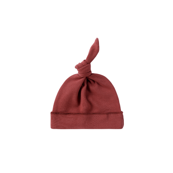 Susukoshi Organic Knotted Hat | Burnt Orange