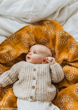 Kiin Organic Cotton & Bamboo Swaddle | HAZEL