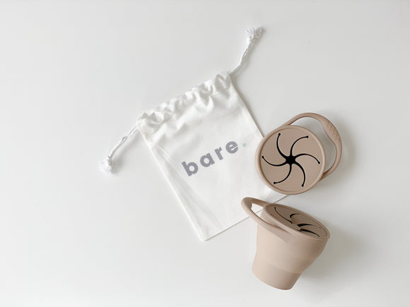 Bare Silicone Snackie Cup | Latte