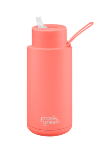 Frank Green Ceramic Reusable Bottle - 34oz | 1L (Straw Lid)