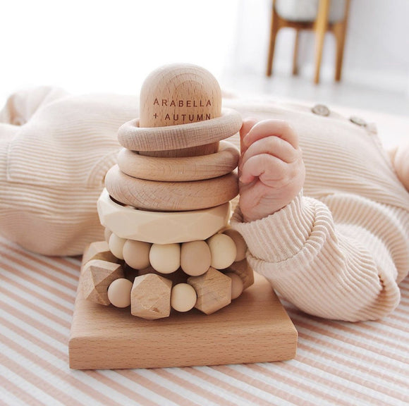 Arabella + Autumn Universal Teething Stacker | Natural
