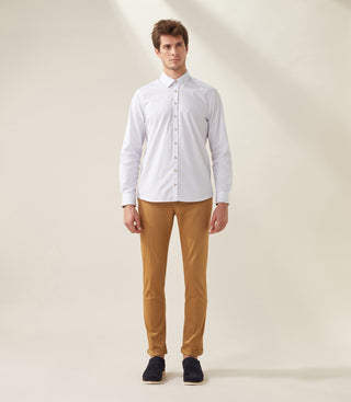 Chemise casual camel