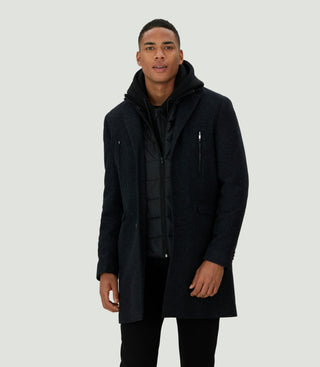 Manteau ville long anthracite