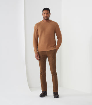 Pull col rond camel