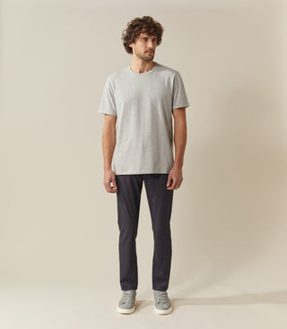 T shirt col rond gris-chine