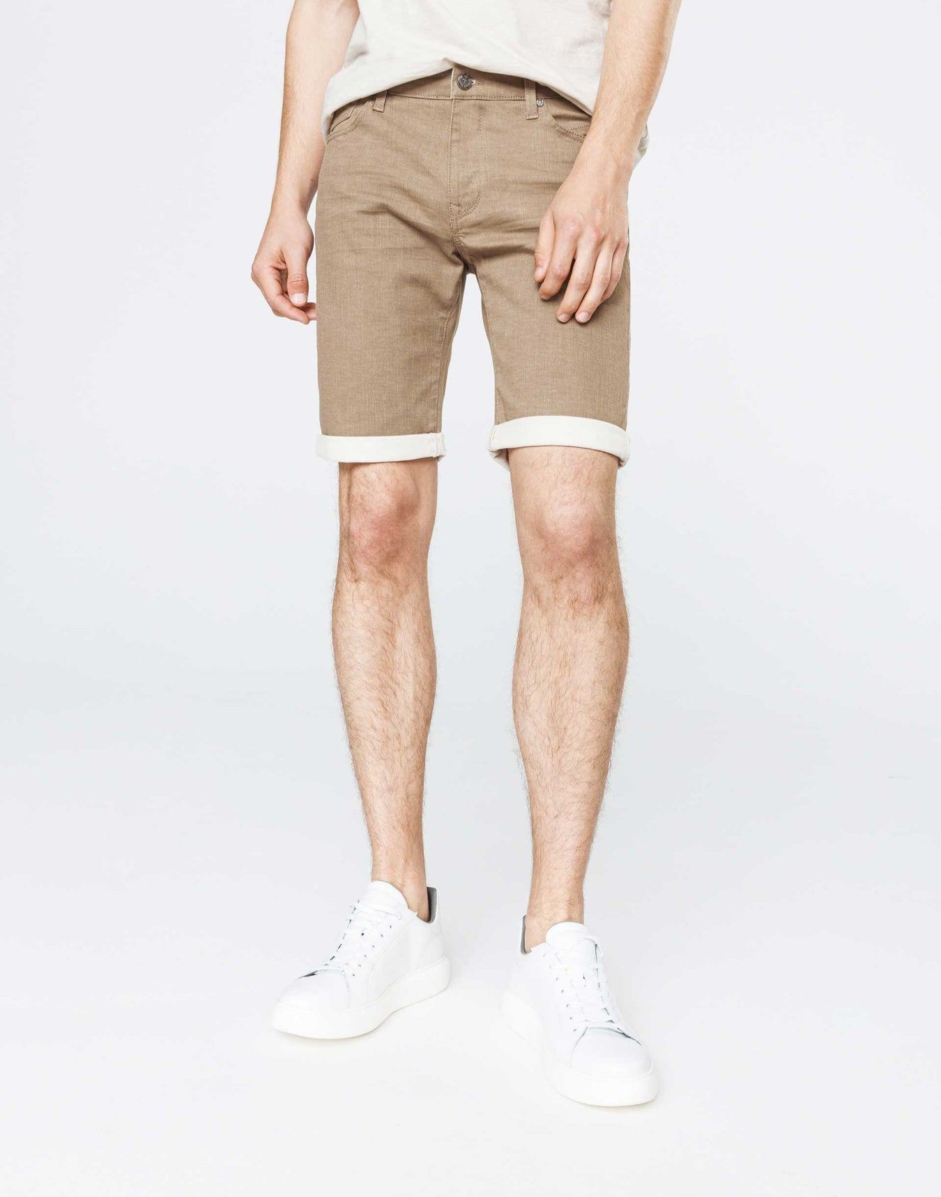 Bermuda slim denim beige