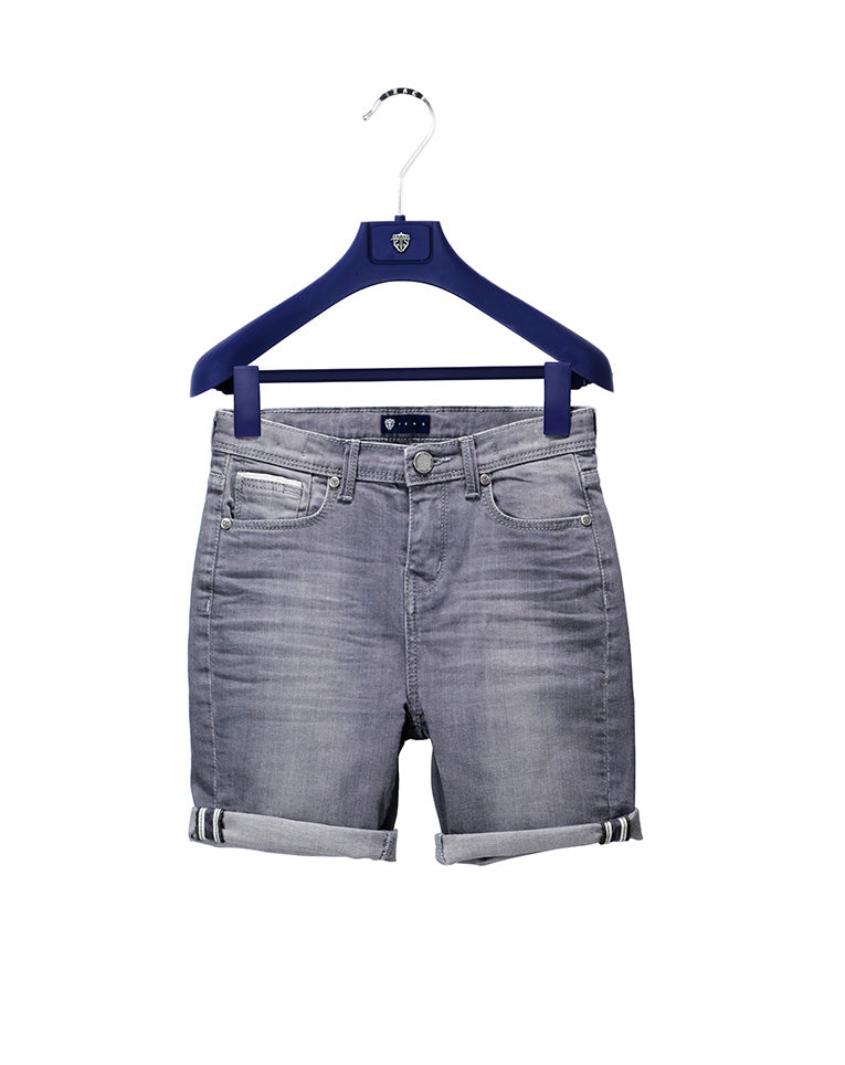 BERMUDA KID DENIM GRIS CLAIR
