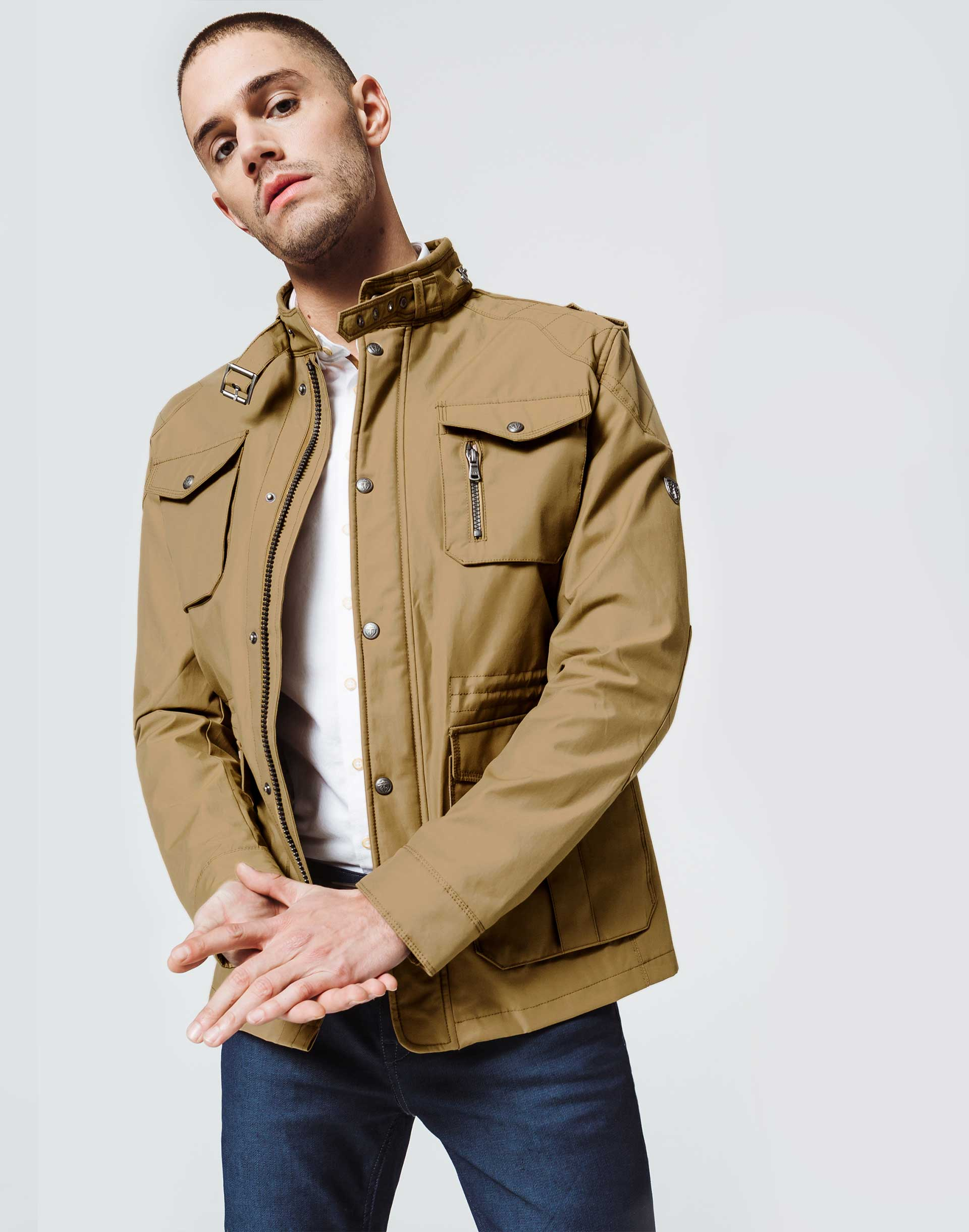 Parka Multipoches Beige