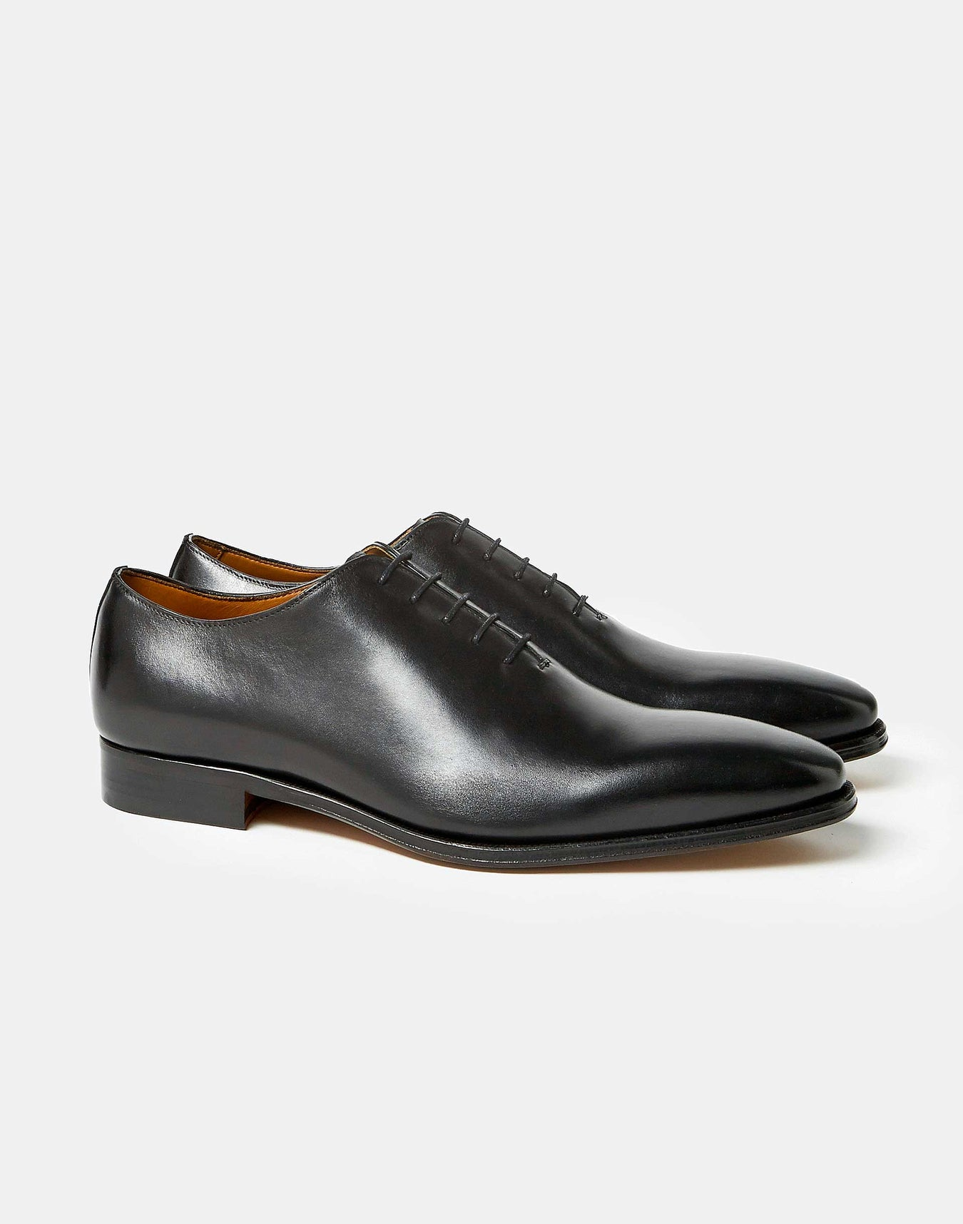 Richelieu One Cut Cuir Noir