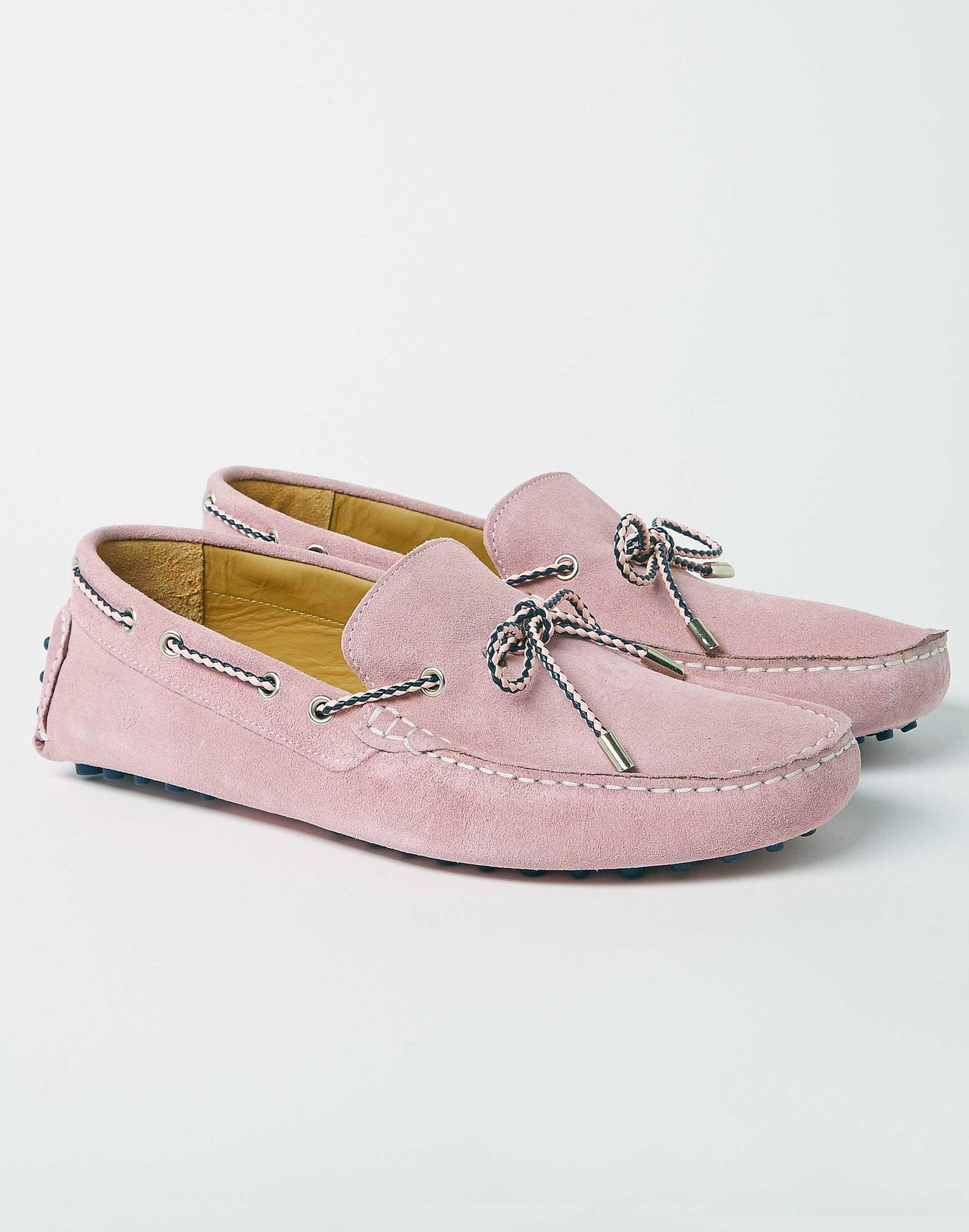 Mocassins Cuir Rose Pâle