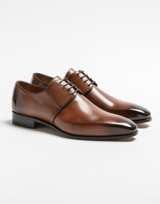 Derby cuir marron clair
