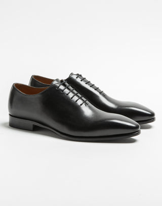 Richelieu cuir noir one cut