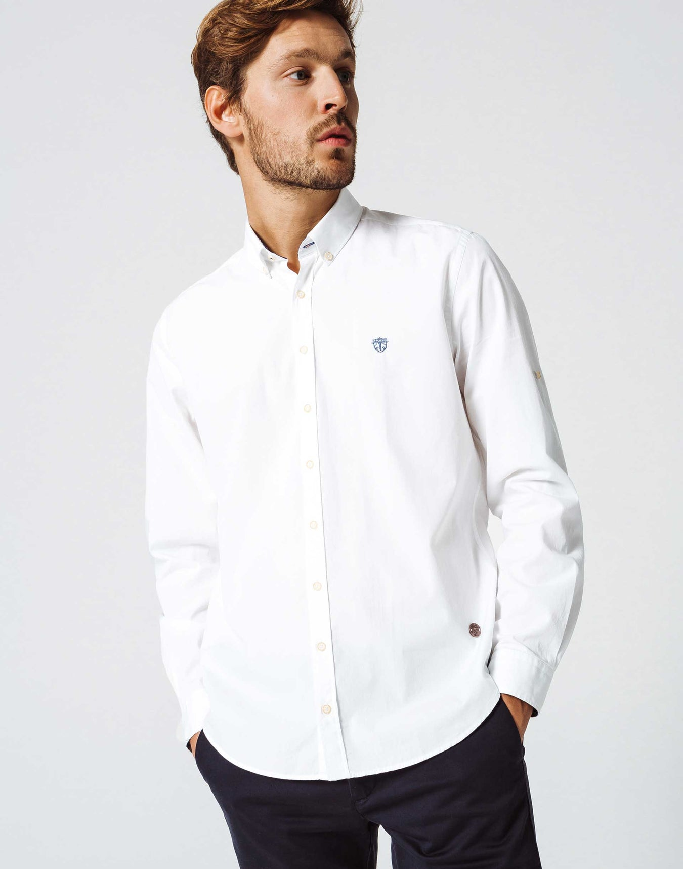 Chemise Casual Blanc