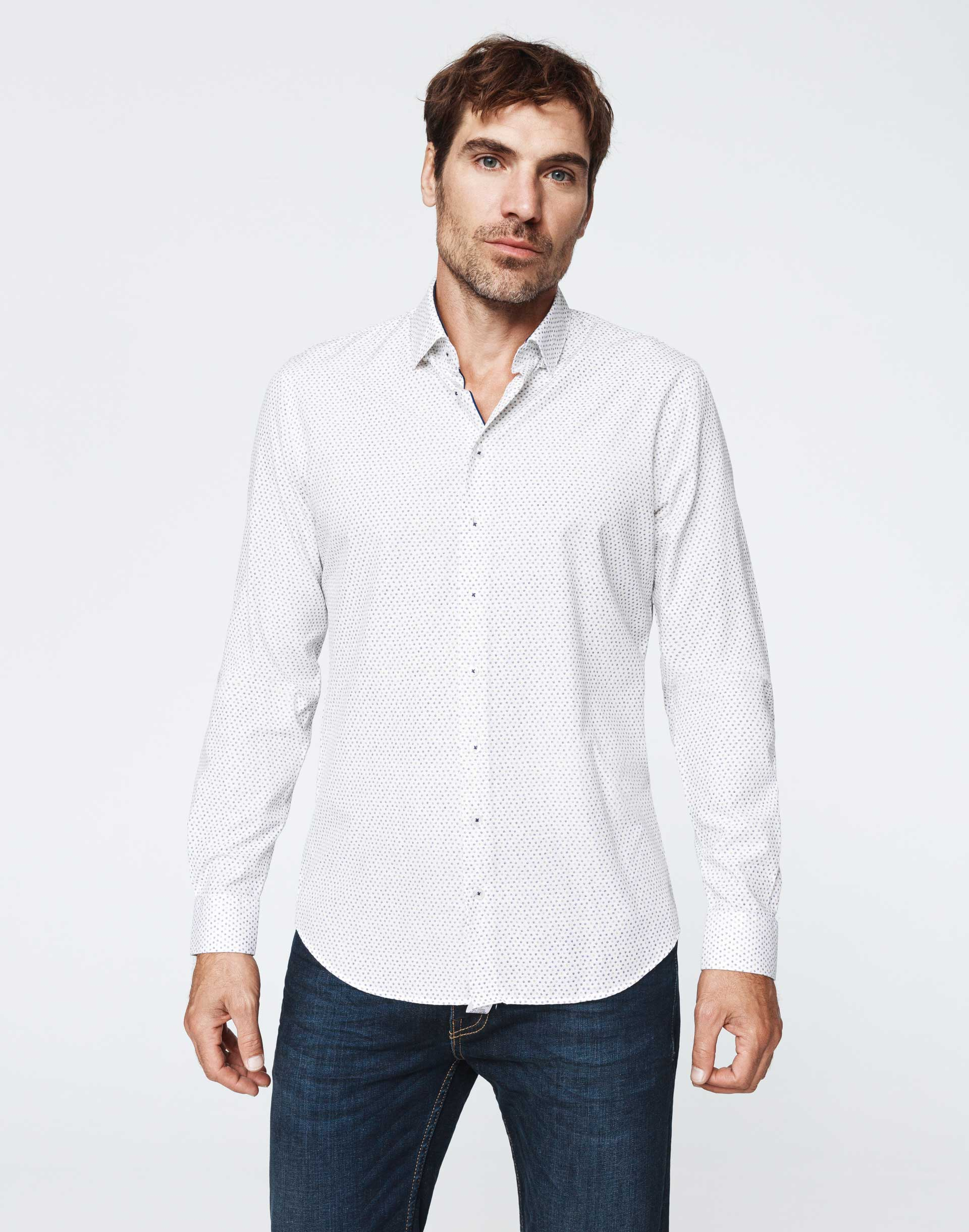 Chemise casual sable