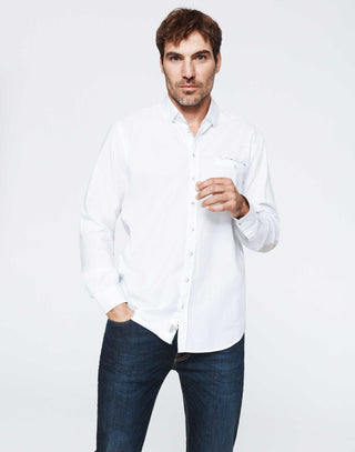 Chemise casual coton blanc