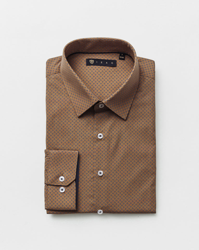 CHEMISE MICRO MOTIF CAMEL