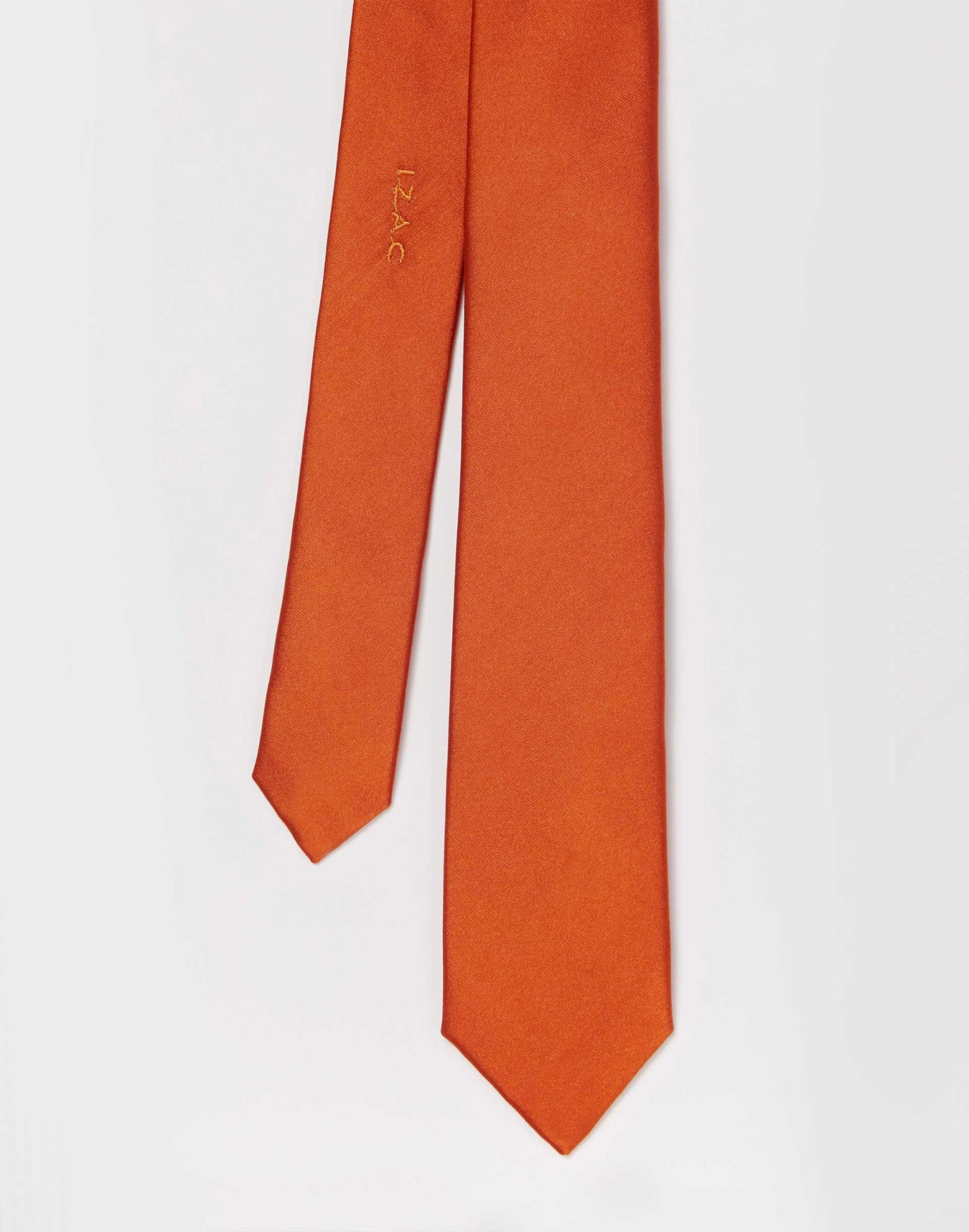 Cravate Slim Satin Orange